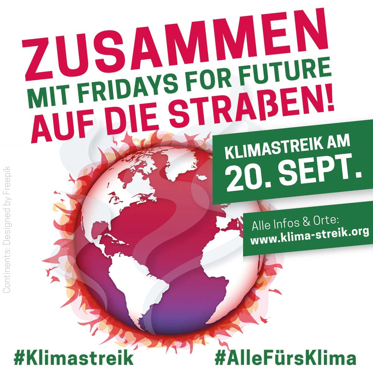 Zusammen mit Fridays for Future auf die Strasse am 20.09.2019